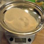 4. Peser le sucre 70g