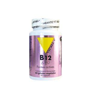 pot de vitamines B12 en gélules végétales.